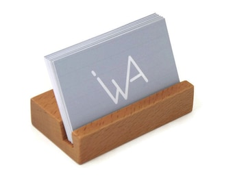 Wooden Business Card Holder - 20-25 Cards Capacity
