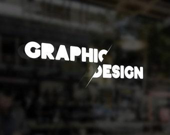 """3"""" x 8"""" Graphic Design Sticker"""