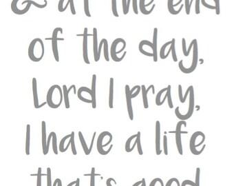 Lord I Pray Digital Print