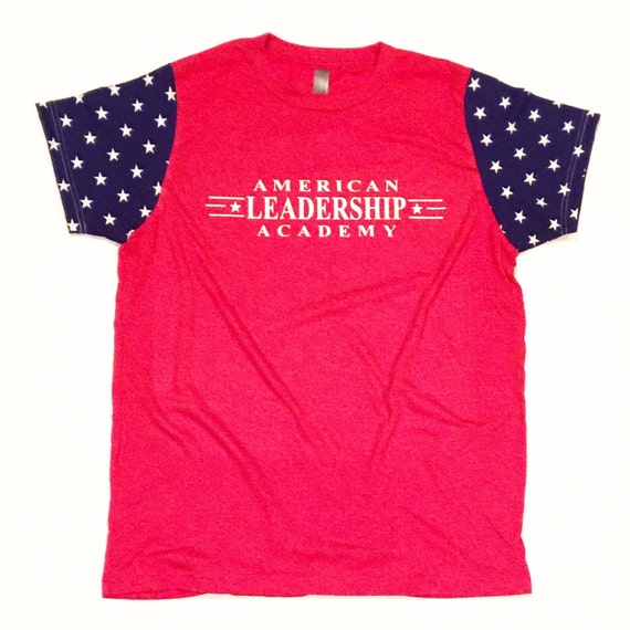 american leadership academy friday shirt kids red with blue