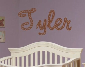 Wester, Rope, Farm, Country, Vinyl, Wall, Decal, Nursery, Bedroom, Child, Children, Girl, Boy, Home, Decoration