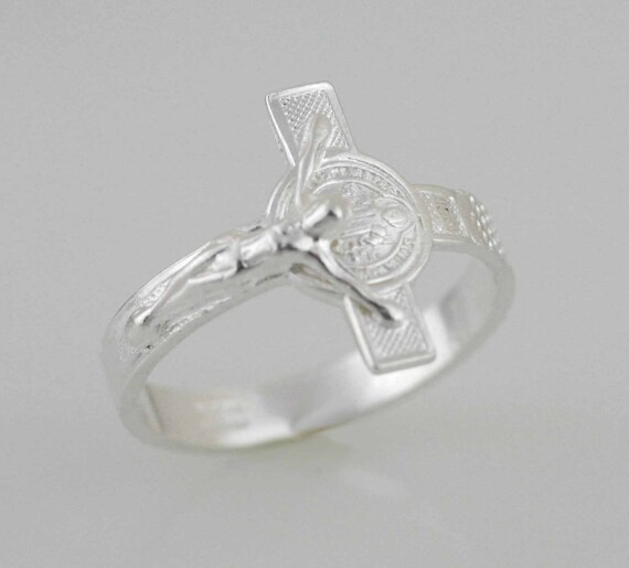 St Benedict Ring Silver