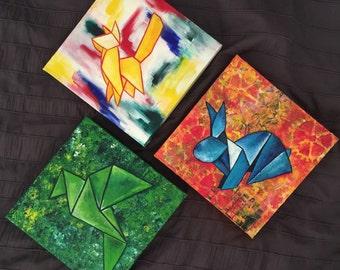 Origami inspired animals