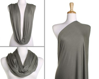 Infinity Scarf / Plain Khaki Nursing Cover / Gift for Her / Womens Scarves / Ladies Eternity Wrap / Breastfeeding Scarf / Mothers Day