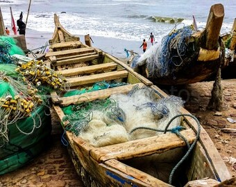 Boats and Nets Cape Coast