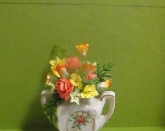 Dollhouse Floral arrangement for 1:6 FR, Barbie, Doll Diorama OOAK