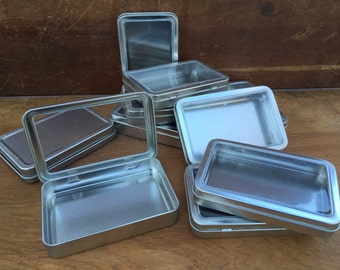 10 Metal Gift Boxes w/ clear lid