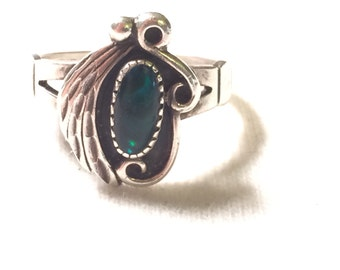CH 925 sterling silver ring with  gem