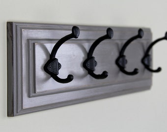 Wall Coat Rack in Dark Gray