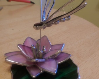 Dragonfly Stained Glass Ornament