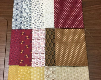 "Freedom Bound fat quarter bundle from Windham Fabrics, containing 20 fat quarters, each 18"" x 22"""