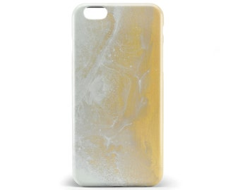 1365 // Yellow Gold and White Texture Phone Case iPhone 5/5S, 6/6S, 6+/6S+ Samsung Galaxy S5, S6, S6 Edge Plus, S7
