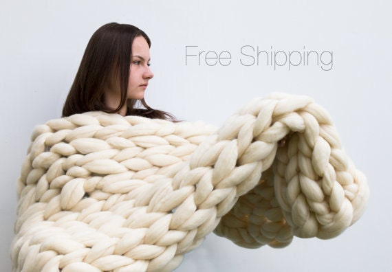 Large Knitting Blankets : Price blanket chunky knit large by bigdreamusa