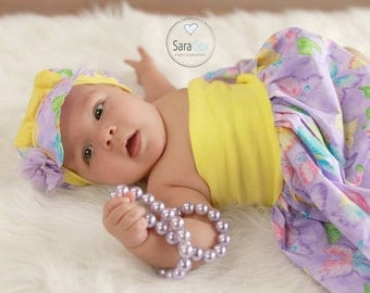 Mommy Miss Lily Dress Photo Prop Lavender Butterfly