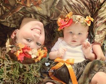 Autumn Flower Crown Photo Prop