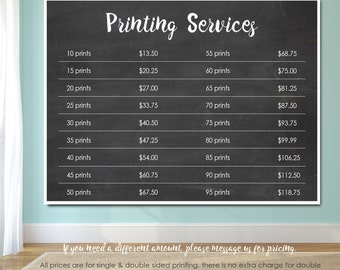 Printing Services for 5X7