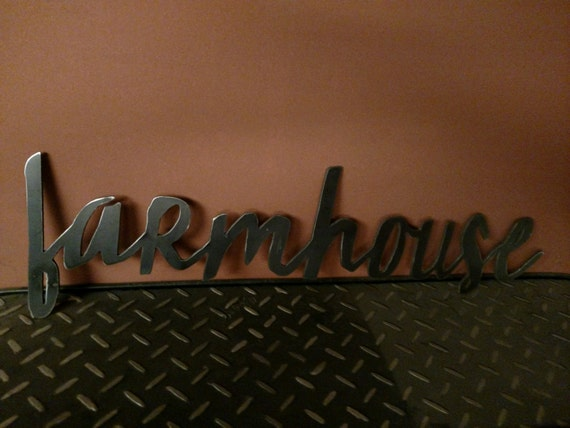 SALEFarmhouse metal sign for home decor wall by