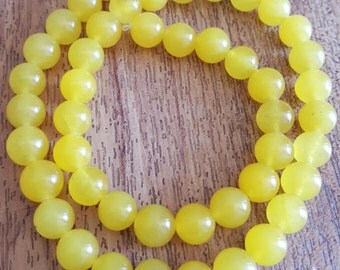 8mm Yellow Jade Gemstones