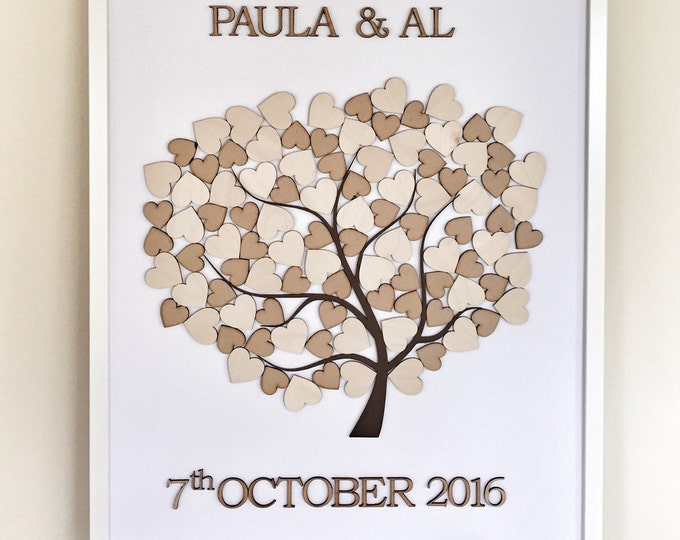 Tree of hearts wedding guestbook