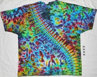 Free Shipping - Handmade Pleated Crunch Tie Dye Shirt