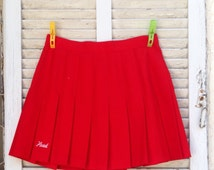 60's Skirt.Tennis Skirt. Red Skirt. Women's Skirt.1960 Skirt.Red Tennis Vintage Skirt For Women 1960's . free shipping