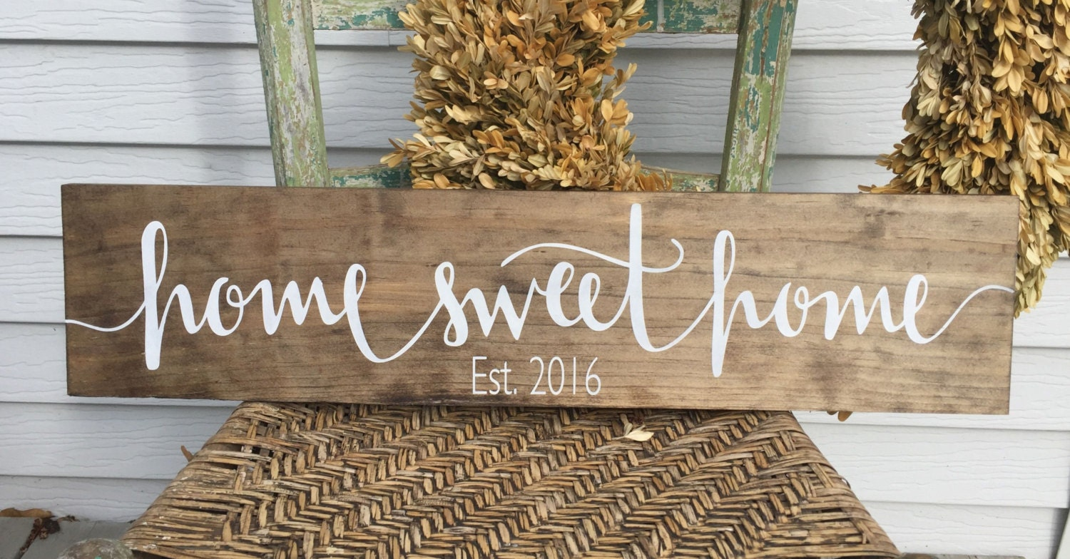 Home Sweet Home Sign Home Sweet Home Family Name By