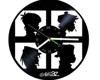 gorillaz poster music vinyl clock