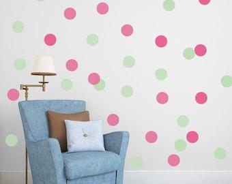 Two colors polka dots, vinyl dots, gold dots, dots, vinyl polka dots, wall dots, wall decal dots, polka dot, polka dot wall decal  #108