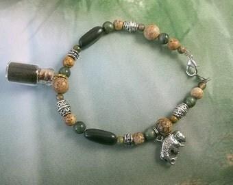 Wildlife Jewelry - Bison Jewelry - Buffalo Totem - Buffalo Charm - Charm Bracelet - Buffalo Bracelet - Buffalo Fur - Cruelty Free