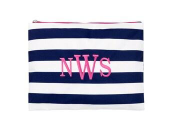 Prep stripe Zip pouch