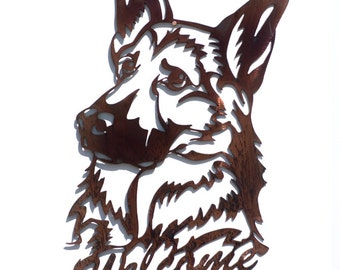 German Shepherd Welcome Sign - CAN BE CUSTOMIZED!