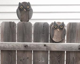 Fence owls