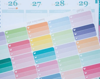 25 Ombre Half Boxes | Planner Stickers designed for use with the Erin Condren Life Planner | 0916