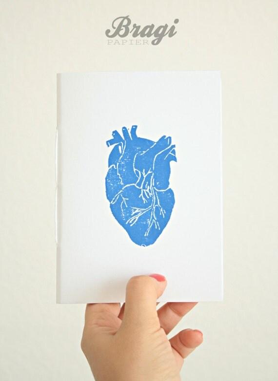 Anatomical Heart Notebook * Love Journal * Wedding Favor Gift *Pocket ...