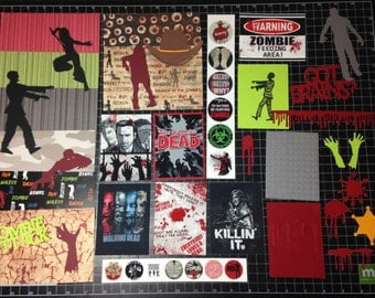 ZOMBIE ATTACK! Themed Scrapbook Kit
