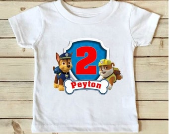 Paw Patrol Birthday Shirt - Paw Patrol Shirt - Birthday Shirt - Boys Birthday Shirt - Personalized Shirt- Custom Shirt-