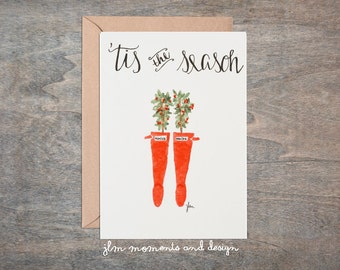 Hunter Boots, Christmas Cards- Set of 8