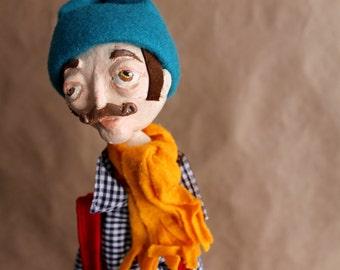 Unique Piece! Handmade Art Doll - Andrej 60cm Long