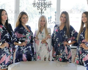Bridesmaid Robes, Set of 6 Robes, Wedding Robe, Will You Be My Bridesmaid, Shipping from New York, Kimono Robe, Regular and Plus Size Robe