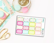 Sale 50% off Tropical Sparkle Half Box Planner Stickers for Erin Condren [KIT35.4]