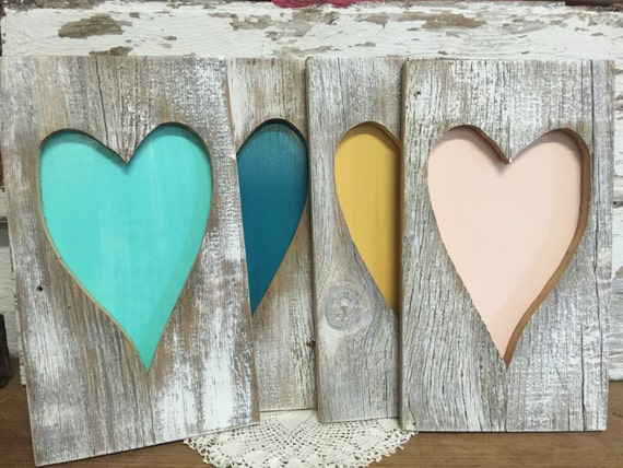 Rustic barn wood heart rustic home decor valentines day for Hearts decorations home