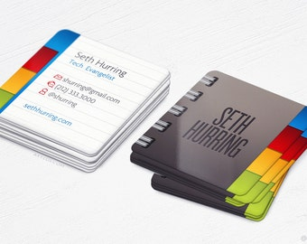 Mini Notebook Square Cards - Realistic - Business Cards - Design and Printing - 100, 250, 500, 1000