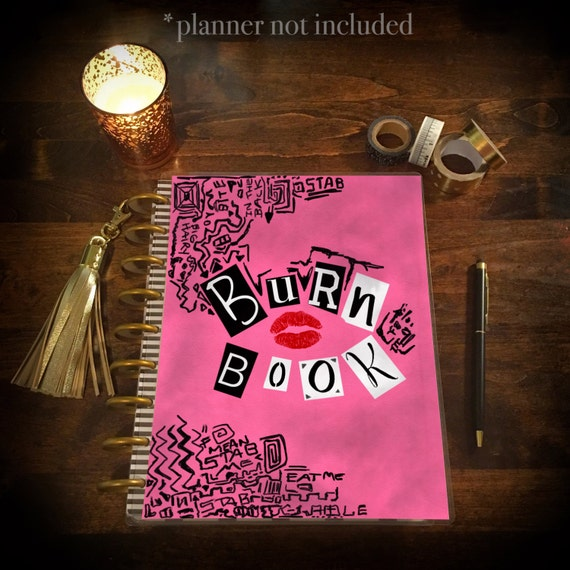 Book Cover Forros Meaning : Burn book mean girls laminated planner cover for erin condren