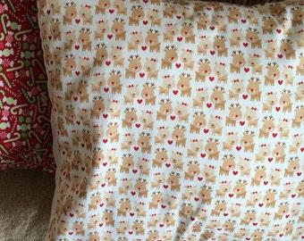 Riley Blake reindeer pillow