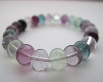 Fluorite, Anahata - Healing Gemstone Bracelet