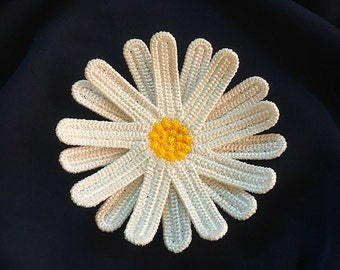 Machine Embroidery Design -   Сhamomile the FSL brooch hairpin Embroidery pattern