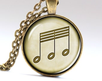 Notes Pendant Mozart Necklace Beethoven Jewelry  Pendants Necklaces Jewellery LG905