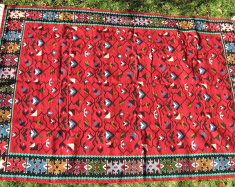 Summer Vines-Carpet,Rug,Handmade,Vintage,Chiprovci