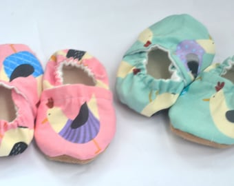 Twins baby booties Gift for twins cute baby clothing chicken baby shoes chicken baby booties  shoes for twins  baby gift twins baby shower