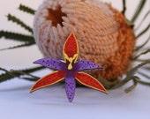 Flower Wood Brooch, Wood Flower Brooch, Australian Brooch, Flower Brooch